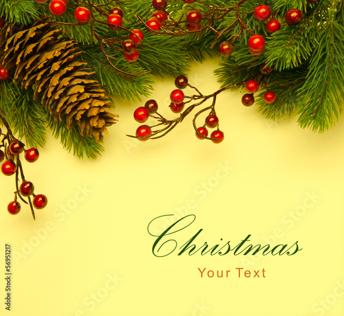 Art Christmas retro greeting card