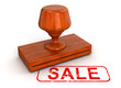 Rubber Stamp sale (clipping path included)
