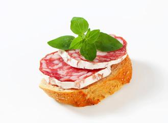 Salami canape