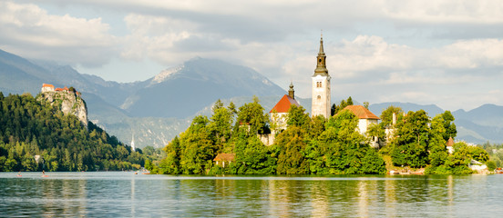 Lake Bled, island and Castle, Slovenia