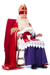 Sinterklaas on his chair