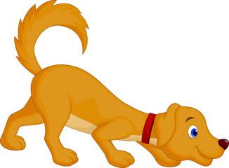 Cute dog cartoon sniffing