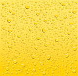 yellow water droplets background