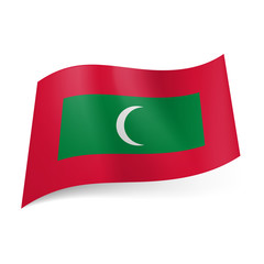 State flag of Maldives.