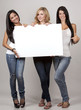 three casual women