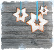 Weihnachtsanhänger in Sternform als Wandschmuck