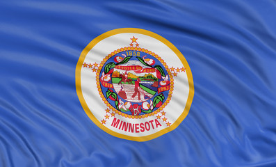 3D Minnesota Flag