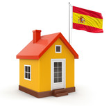 House and Spanish Flag (clipping path included)