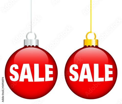 """Christmas Balls """"SALE"""" Red"""