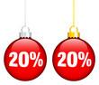 """Christmas Balls Sale """"20%"""" Red"""