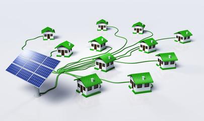 Solar panels supplys the houses