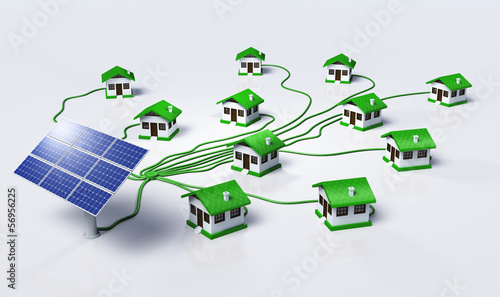 Solar panels supplys the houses