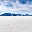 Bonneville salt flats with sky - 56956804