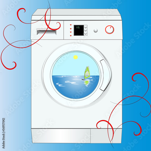 noiseless washing-machine