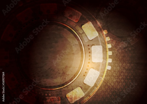 Dark grunge technology vector background
