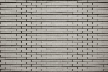 Brick wall, built of flat bricks