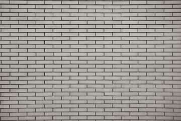 Brick wall, built of flat bricks