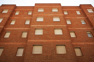 Multi-storey residential building of red brick