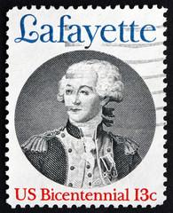 Postage stamp USA 1977 Marquis de Lafayette