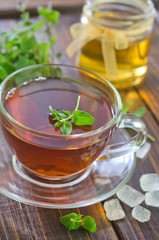 Tea with mint and honey