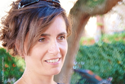 close.up,forty years old woman