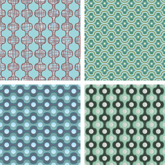 Variants of seamless patterns. vector decorations
