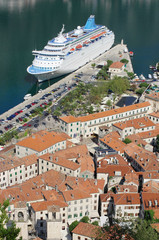 Cruise Ship In The Kotor Bay, Montenegro