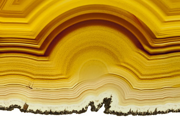 Close up of a Slice Agate Gemstone