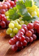 grappoli di uva rossa e bianca