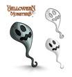 Halloween monsters scary cartoon ghost EPS10 file.
