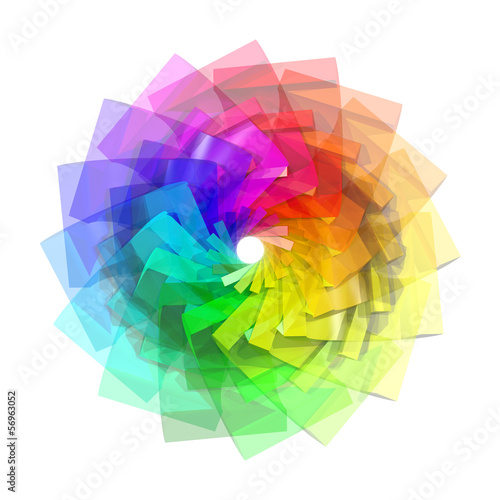 3d color spiral abstract background © arbaes