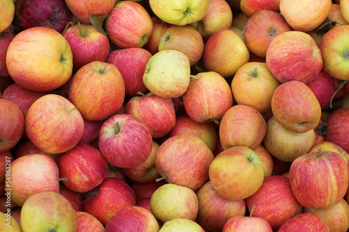 Fresh organic apple background