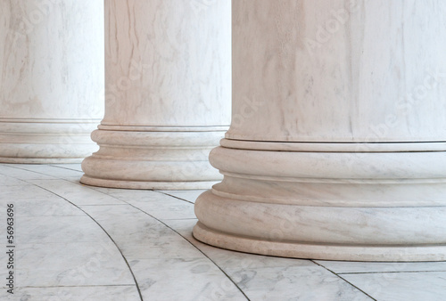 Fotobehang Historisch mon. Base of Ionic Columns at Jefferson Memorial in Washington DC