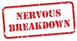 Nervous Breakdown Rubber Stamp