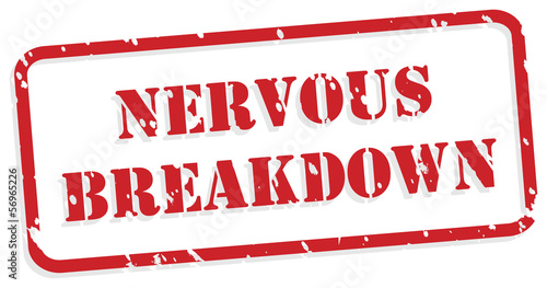 Nervous Breakdown Rubber Stamp