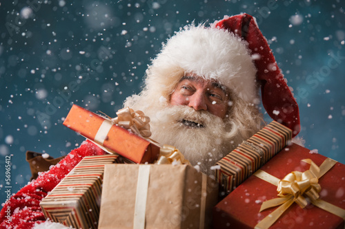 Santa Claus with his sack of presents