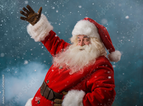 Santa Claus welcoming to the North Pole