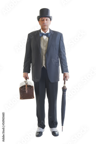 businessman in a retro business suit