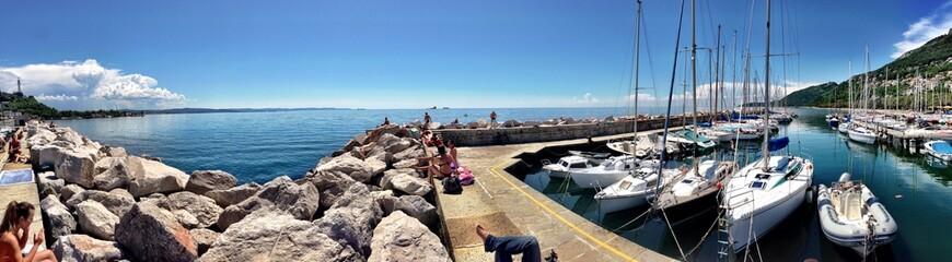 barche ormeggiate al porto