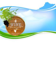 Best wine grape.Winemaking.Nature background.Vector