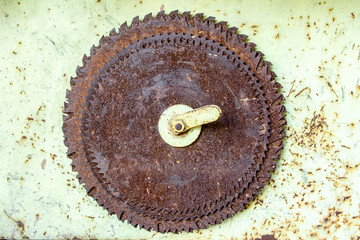 old rusted circular saw blades