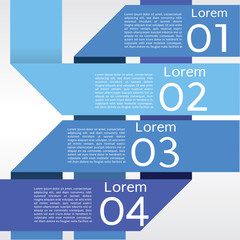 Abstract Blue Banners Vector in Four Step.EPS10