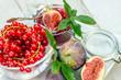 Frisch gekochte Feigen-Johannisbeer-Marmelade