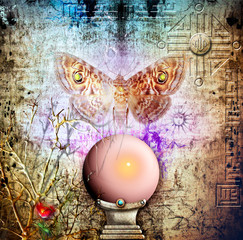 Crystal ball and soul moth