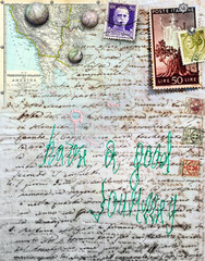 Old project and stamps background