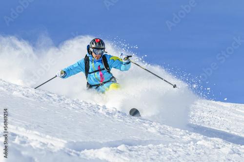 Foto op Plexiglas Wintersporten in Pulverschnee eintauchen