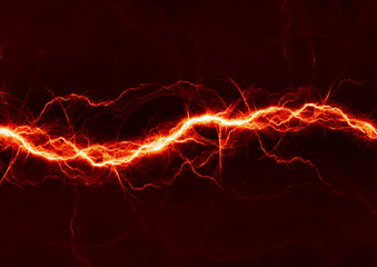 Abstract fiery lightning