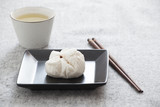 Chinese steamed barbecue pork bun (Dim Sum)