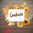 Background with cookies