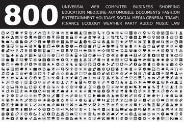Icons Set for Web buttons, Internet & Website icons